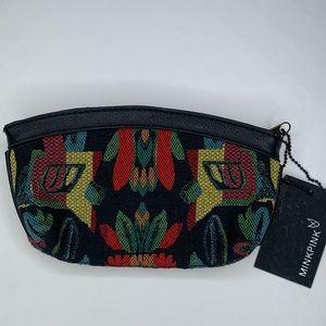 NWT MINKPINK Zip clutch bag